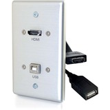 C2G HMDI and USB B Pass Through Wall Plate