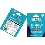 Hyundai Bravo Deluxe 16GB High Speed Fast USB 2.0 Flash Memory Drive Thumb Drive Metal (U2BK/16GASG) Space Grey