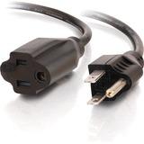 C2G 1ft 18 AWG Outlet Saver Power Extension Cord (NEMA 5-15P to NEMA 5-15R)