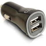 C2G Smart 2-Port USB Car Charger, 2.4A Output