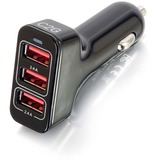 C2G Smart 3-Port USB Car Charger, 4.8A Output