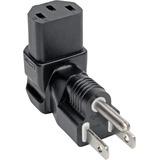 Tripp Lite Down-Angled NEMA 5-15P to C13 Power Cord Adapter