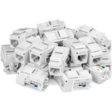 TRENDnet Cat6 Keystone Jack, 25-Pack Bundle, TC-K25C6, 90?? Angle Termination, Compatible with Cat5, Cat5e, & Cat6 Cabling, Color-Coded Labeling for T568B Wiring, Gold-Plated Contacts, Tool-less Design