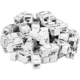 TRENDnet Cat6 RJ45 Keystone Jack 50-Pack Bundle, TC-K50C6, Compatible with Cat5/Cat5e/Cat6 Cabling, 90?? Angle Termination, Use with the TC-KP24 or TC-KP48 Blank Keystone Patch Panels(Sold Separately)