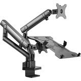 Aluminum Mechanical Spring Slim Monitor Arm with Laptop Holder