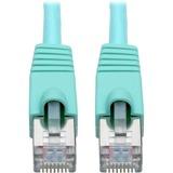 Tripp Lite Cat6a Snagless Shielded STP Patch Cable 10G, PoE, Aqua M/M 1ft