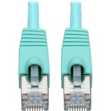 Tripp Lite Cat6a Snagless Shielded STP Patch Cable 10G, PoE, Aqua M/M 3ft