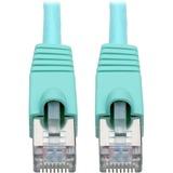 Tripp Lite Cat6a Snagless Shielded STP Patch Cable 10G, PoE, Aqua M/M 10ft