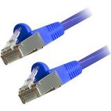 Comprehensive Cat6 Snagless Shielded Ethernet Cables, Blue, 10ft