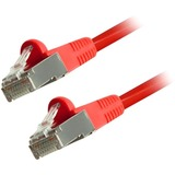 Comprehensive Cat6 Snagless Shielded Ethernet Cables, Red, 7ft
