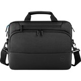 "Dell Pro Carrying Case (Briefcase) for 15"" Dell Notebook - Black - Shock Absorbing, Impact Resistant, Anti-slip Shoulder Strap, Water Resistant - EVA Foam, 1680D Ballistic Polyester - Shoulder Strap, Handle, Trolley Strap, Carrying Strap - 11.8"" Height x 4.3"" Width x 15.7"" Depth - 3.70 gal Volume Capacity"