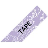 """Brother P-Touch Embellish Black on Purple Floral Pattern Tape 12mm (~1/2"""") x 4m"""