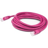 AddOn 15ft RJ-45 (Male) to RJ-45 (Male) Straight Pink Cat6 UTP PVC Copper Patch Cable