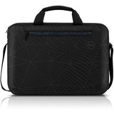 "Dell Essential ES1520C Carrying Case (Briefcase) for 15"" to 15.6"" Notebook - Black - Water Resistant Exterior - Reflective Printing with Bumped UP Texture - Hand Grip, Shoulder Strap, Trolley Strap - 11"" Height x 15.7"" Width x 2"" Depth - 3.17 gal Volume Capacity"