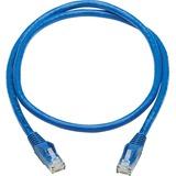 Tripp Lite Cat6 Snagless UTP Network Patch Cable (RJ45 M/M), Blue, 3 ft.