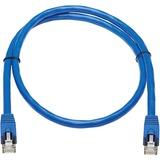 Tripp Lite Cat6a Patch Cable F/UTP Snagless w/ PoE 10G CMR-LP Blue M/M 3ft