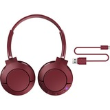 TCL MTRO200BT Burgundy Wireless On-ear Headphones