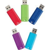 64GB PINSTRIPE 3.0 USB 5PK ASSORTED