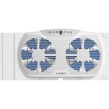 Lasko Electrically Reversible Twin Window Fan with Bluetooth