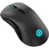 Lenovo Legion M600 Wireless Gaming Mouse - Optical - Cable/Wireless - Bluetooth/Radio Frequency - 2.40 GHz - Iron Gray, Black - USB 2.0 - 16000 dpi - Scroll Wheel - 9 Button(s) - Symmetrical