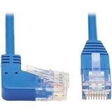 Tripp Lite Cat6 Ethernet Cable Right Angled UTP Slim Molded M/M Blue 2ft