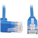 Tripp Lite Cat6 Ethernet Cable Up Angled UTP Slim Molded M/M RJ45 Blue 5ft