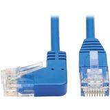 Tripp Lite Cat6 Ethernet Cable Left Angled UTP Slim Molded M/M Blue 7ft