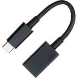 4XEM USB-C Male to USB-A Female Adapter Black