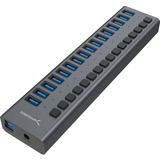 Sabrent USB 3.0 16-Port Aluminum Hub with Power Switches and LEDs (HB-PU16)