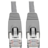 Tripp Lite Cat6a Ethernet Cable 10G STP Snagless Shielded PoE M/M Gray 2ft
