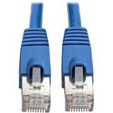 Tripp Lite Cat6a Ethernet Cable 10G STP Snagless Shielded PoE M/M Blue 6ft