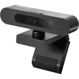 Lenovo 500 FHD Webcam, 1080p, Teleconferencing Video Camera for Desktop & Laptop PCs, Windows Hello, Digital Zoom, Wide-Angle Tilt/Pan, Privacy Shutter, USB-C, GXC0X89769, Black
