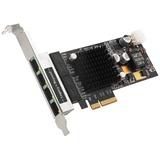 SIIG 4 Port Gigabit Ethernet with POE PCIe Card