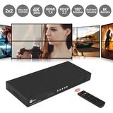 SIIG 2x2 4K Video Wall Processor with USB-C / DVI / HDMI Input