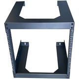 """4XEM 6U 18"""" Deep Wall Mount for Switches and Rackmount Networking Equipment- Black"""