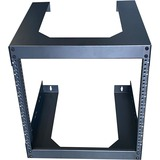 """4XEM 9U 18"""" Deep Wall Mount for Switches and Rackmount Networking Equipment- Black"""