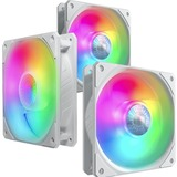 Cooler Master SickleFlow 120 V2 ARGB White Edition 3in1 Square Frame Fan, Customizable LEDs, Air Balance Curve Blade, Sealed Bearing, PWM Control for Computer Case & Liquid Radiator