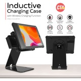 CTA Digital Quick Release Secure Table Kiosk w/ Inductive Charging Case