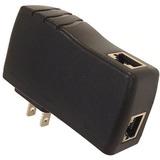 VisionTek Single Port Gigabit Mode A PoE Injector With 48 Volt 15 Watt Output
