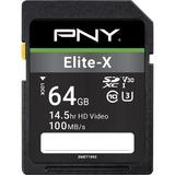 PNY Elite-X 64 GB Class 10/UHS-I (U3) SDXC