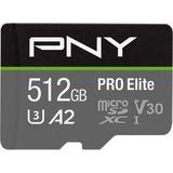 PNY PRO Elite 512 GB Class 10/UHS-I (U3) microSDXC