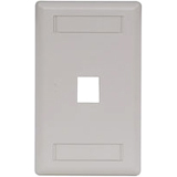 Hubbell 1-Socket IFP11OW Faceplate