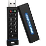SecureDrive SecureUSB KP Hardware-Encrypted USB Flash Drive with Keypad