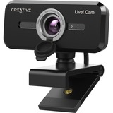 Creative Live! Cam Sync 1080p V2 Full HD Wide-Angle USB Webcam with Auto Mute and Noise Cancellation for Video Calls, Improved Dual Built-in Mic, Privacy Lens Cap, Universal Tripod Mount