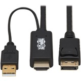 Tripp Lite P567-02M HDMI to DisplayPort 1.2 Active Adapter Cable, Black, 2 m (6.6 ft.)