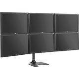 Six display LCD/LED monitor mount