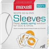 Maxell White CD / DVD Sleeves