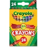 Binney & Smith Crayola(R) Standard Crayon Set, Lift-Lid Box, Assorted Colors, Box Of 24