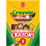 CRAYON,MULTICUL,8ST,AST