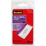 Scotch Front and Back Self-Seal Laminating Pouches with Loops - Luggage Tag Size